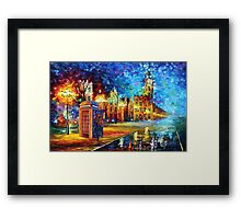Sherlock Phone booth and Big ben art painting Framed Print