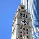 Chicago Clock Tower by Frank Romeo