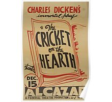 WPA United States Government Work Project Administration Poster 0786 Charles Dicken's The Cricket on the Hearth Alcazar Poster