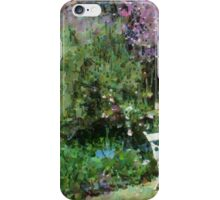 Chairs in garden setting iPhone Case/Skin