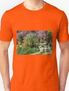 Chairs in garden setting Unisex T-Shirt