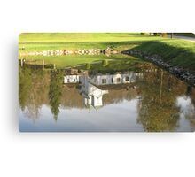 Monastery in water mirror Canvas Print