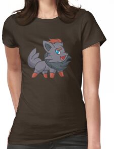 Charcoal Fox Womens Fitted T-Shirt