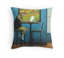 Day Off - contemporary figurative art Throw Pillow