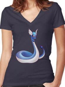 Dragon Energy Women's Fitted V-Neck T-Shirt