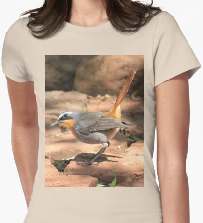 Cape Robin (Cossypha caffra) Womens Fitted T-Shirt
