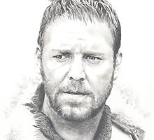 Russell Crowe - The Gladiator by Kate Eller