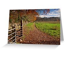 Autumn in the Ribble Valley Greeting Card