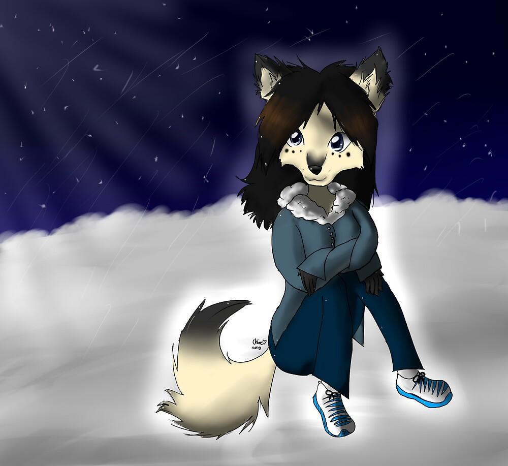 Husky - Arctic winter nights by iNote359