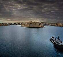 Land Ahoy! -------- Valletta Harbour Malta by Edwin  Catania