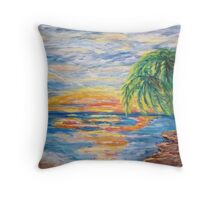 Tropical Sunset Throw Pillow