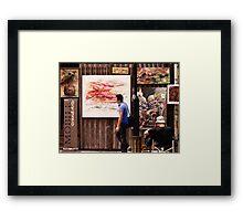 Hollywood Road Gallery, Hong Kong Framed Print