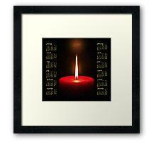 Red Candle 2011 Calendar Framed Print