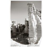 Plaza Blanca Cliffs Vertical - El Rito, NM Poster