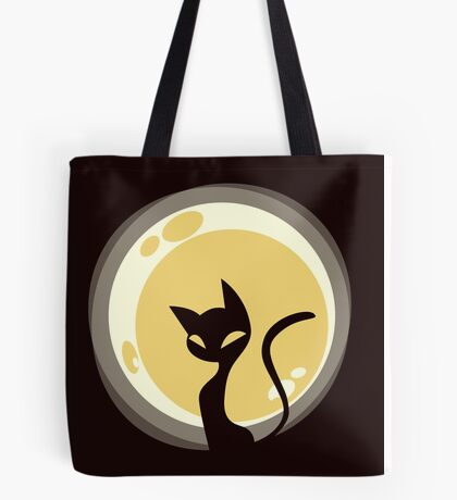 Cat and Moon Tote Bag