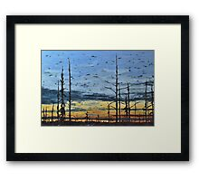 Northern Sunset Over Unknown Lake Framed Print