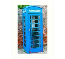 Blue telephone box Art Print