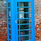 Blue telephone box by lendale