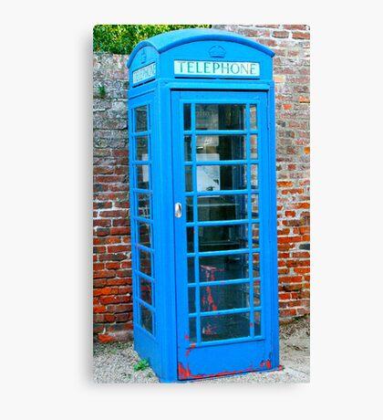 Blue telephone box Canvas Print