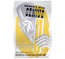 WPA United States Government Work Project Administration Poster 0091 Moments with Genius Radio WBBM Poster