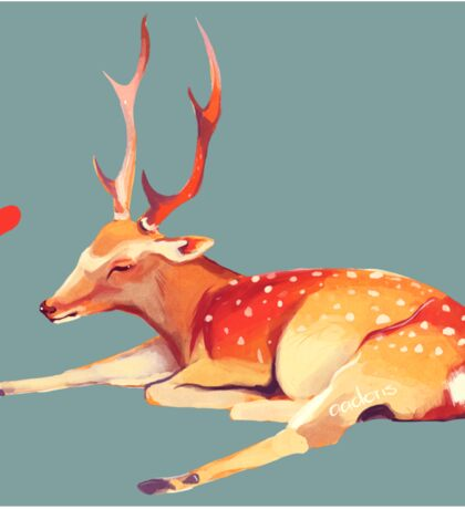 Deer Heart, Sticker