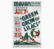 WPA United States Government Work Project Administration Poster 0354 Mayan Theatre Green Grow the Lilacs Baby Tee