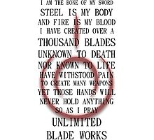 Unlimited Blade Works (Fate/Stay Night) Photographic Print