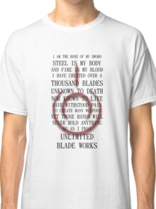 Unlimited Blade Works (Fate/Stay Night) Classic T-Shirt