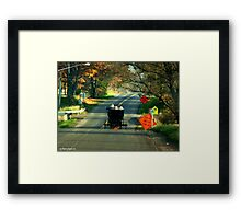 Road Work? Framed Print