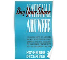 WPA United States Government Work Project Administration Poster 0156 Buy Your Share Art Sale Week Poster