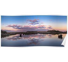 Morning Wetlands Panorama, Hastings Poster