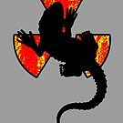 Radioactive Gecko with Human Hands and Feet Funny by Denis Marsili