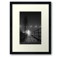 Lonely pathway Framed Print