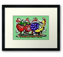 Berry Christmas & Banana New Year Framed Print