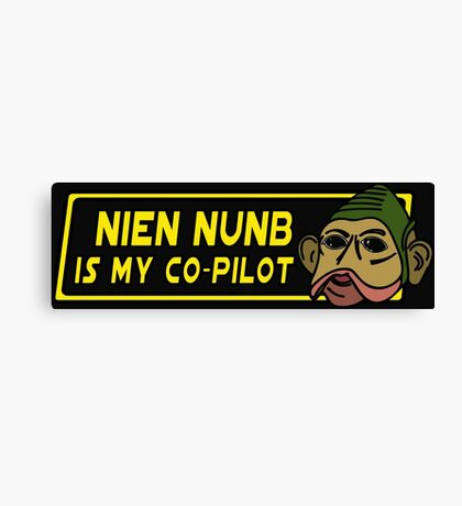 Star Wars - Nien Nunb Is My Co-Pilot Canvas Print