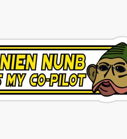 Star Wars - Nien Nunb Is My Co-Pilot Sticker