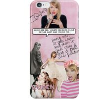Taylor Swift Collage - Pink 2 ♡ iPhone Case/Skin
