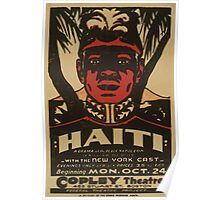 WPA United States Government Work Project Administration Poster 0771 Haiti Copley Theatre Poster