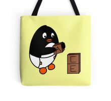 Baby Penguin With Blocks Tote Bag