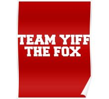 Team Yiff the Fox Poster