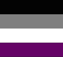 Asexual Pride Flag by Anna Gouthro