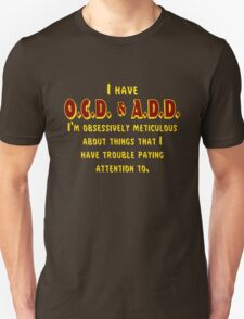 OCD & ADD - Maroon/Gold T-Shirt