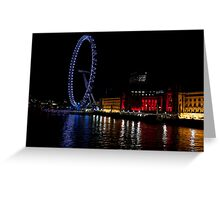 London eye at night Greeting Card