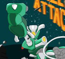 """MechaBetty """"When Aliens Attack"""" Sticker"""