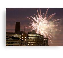 Fireworks over London Canvas Print