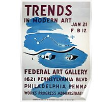 WPA United States Government Work Project Administration Poster 0174 Trends in Modern Art Federal Art Gallery Poster