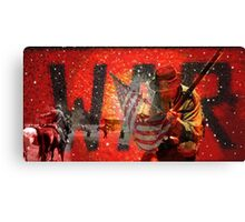 WAR FLAG  Canvas Print