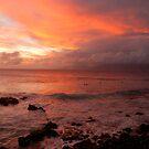 Surf @ Sunset Honolua Bay Maui by ZIGSPHOTOGRAPHY