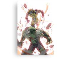 Hulk vs Wolverine Canvas Print