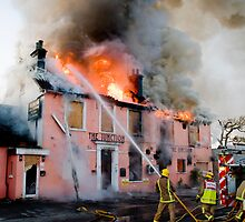 Firefighters tackle a fire in Sussex by Eddie Howland